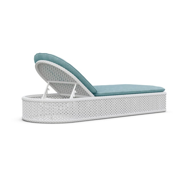 Montauk Lounge Chair in Pearl Gray with Haze Cushions For Sale - Image 4 of 5