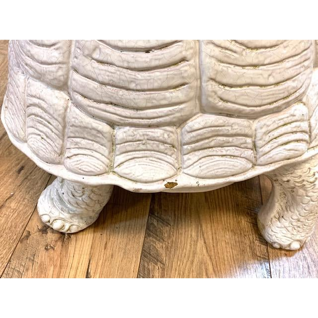 Mid Century Pair, Italian Turtle Garden Seats For Sale - Image 10 of 12