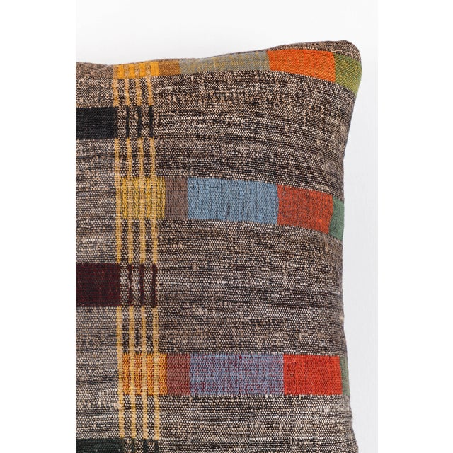 Contemporary Indian Handwoven Pillow New Japanese Stripe For Sale - Image 3 of 5