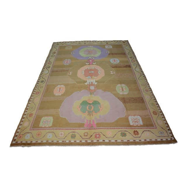 Oversized Hand Knotted Turkish Contemporary Wool Rug For Sale