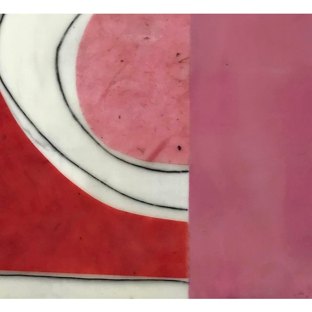 """2010s Gina Cochran """"Perceptions No. 15"""" Encaustic Collage Painting For Sale - Image 5 of 8"""