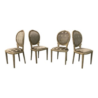 Mid-20th Century Faux Bois Hand-Carved Italian Dining Chairs - Set of 4 For Sale