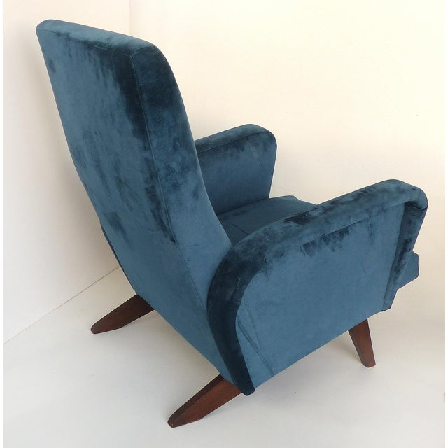 Mid 20th Century Petite Mid Century Italian Modern Club Chairs- a Pair For Sale - Image 5 of 13