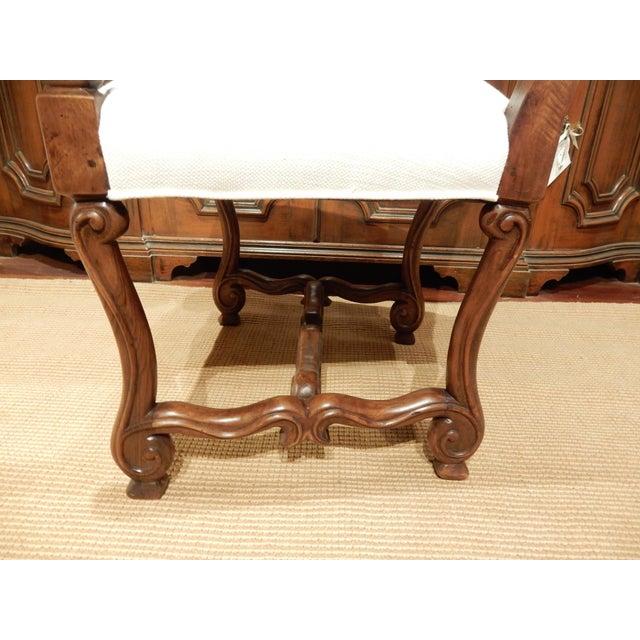 Late 19th Century Italian Walnut Armchair For Sale - Image 4 of 9