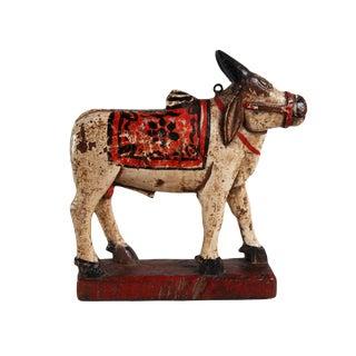 Antique Wood Brahma Bull