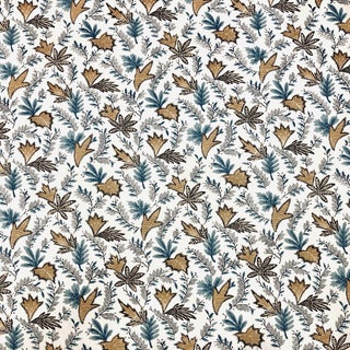 Contemporary Vervain Leluke Cotton Designer Fabric by the Yard For Sale