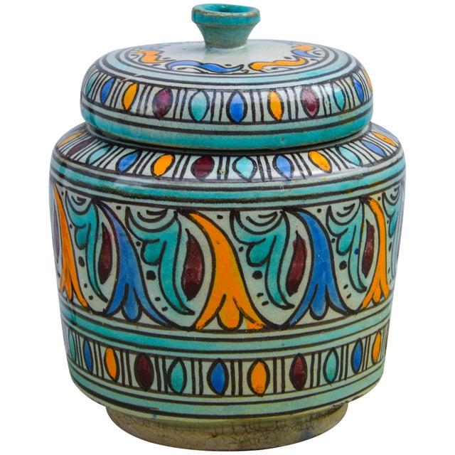 Moorish-Patterned Ceramic Lidded Jar For Sale - Image 10 of 10