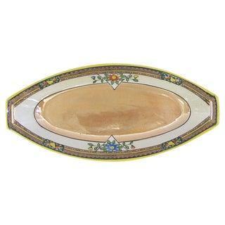 1920's Art Deco Lustreware Relish Tray For Sale