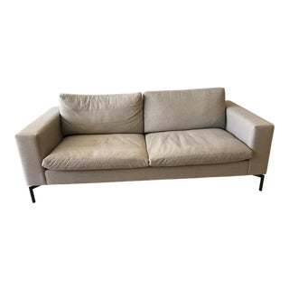 "Blu Dot Modern Light Gray Standard 78"" Sofa For Sale"