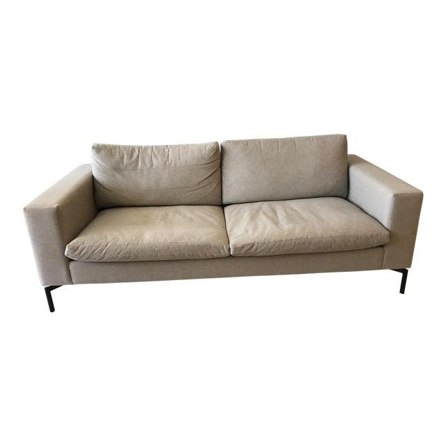 "Blu Dot Modern Light Gray Standard 78"" Sofa For Sale"