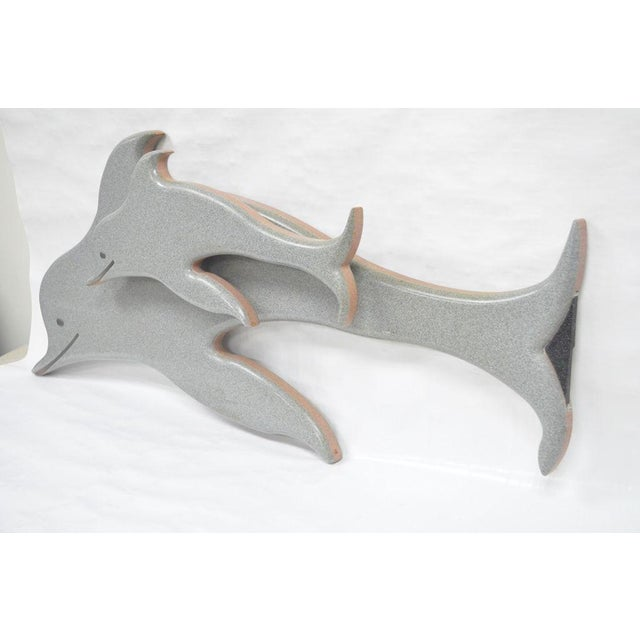 """48"""" Custom Made 3d Laminated Formica Mother Dolphin & Baby Pup Calf Sculpture For Sale - Image 5 of 11"""
