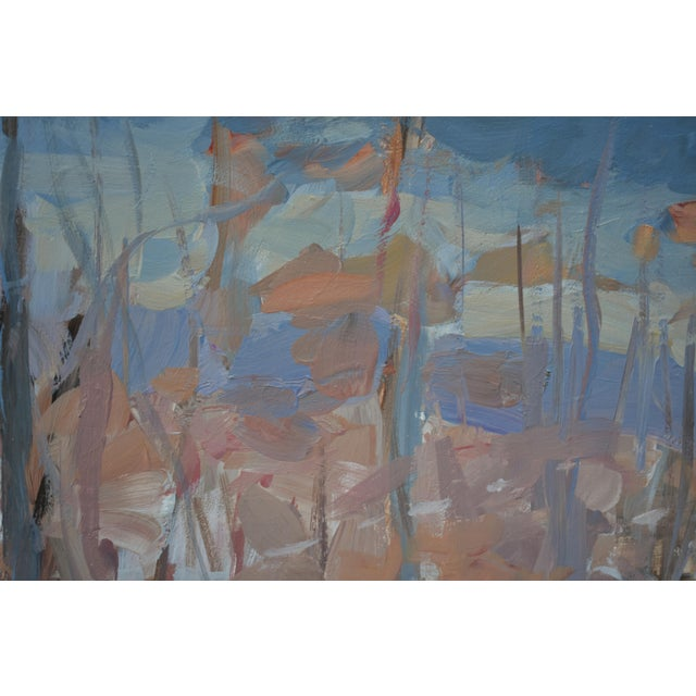 """2020s """"Vermont Memory"""" Contemporary Abstract Landscape Acrylic Painting by Stephen Remick, Framed For Sale - Image 5 of 9"""