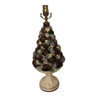 1950s Italian Plum Compote Lamp For Sale