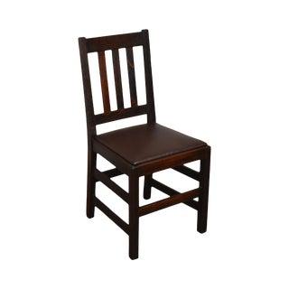Antique Mission Oak Side Chair (B) For Sale