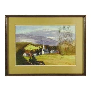 Robert Steedman Vermont Watercolor Painting