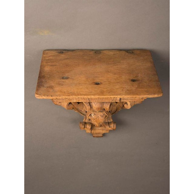 Late 19th Century 19th Century French Henri II Style Portrait of Young Lady Oak Wall Bracket For Sale - Image 5 of 5
