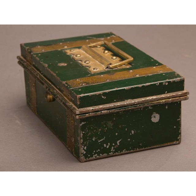 """Late 19th Century Street Vendor's """"Cash"""" Hinged Metal Box, Painted Finish, England c. 1890 For Sale - Image 5 of 8"""