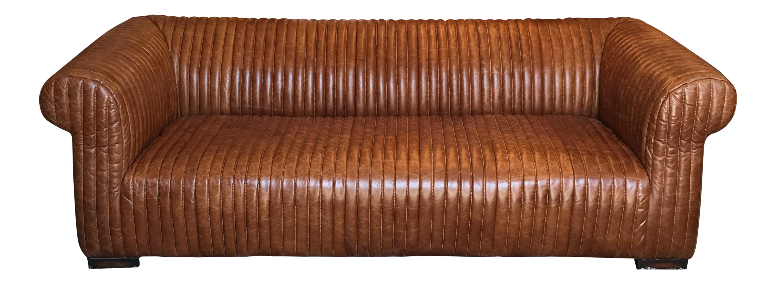 New Artsome Logan Sofa In Cognac Color Leather