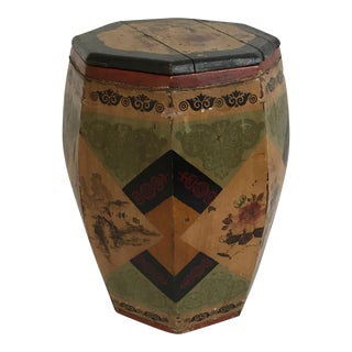 Chinese Octagonal Barrel & Lid