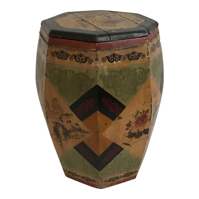 Chinese Octagonal Barrel & Lid For Sale