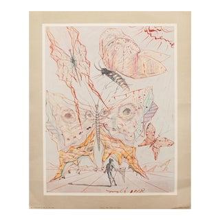 1953 Dali Butterflies Original Lithograph For Sale