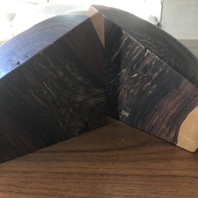 Contemporary Don Shoemaker Mexican Modern Cocobolo Wood Bookends- a Pair For Sale - Image 3 of 7