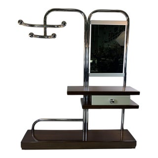 Italian 1970s Modernist Hall Rack Attributed to Willy Rizzo For Sale