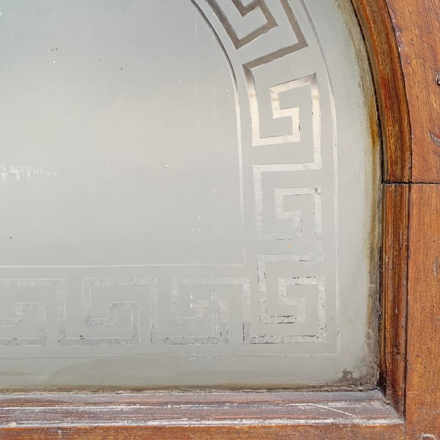 Late 19th Century 19th Century American Arch Top Greek Key Transom Window For Sale - Image 5 of 8