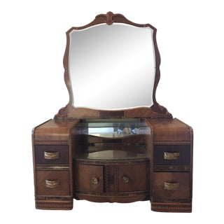 1950s Vintage Art Deco Vanity For Sale