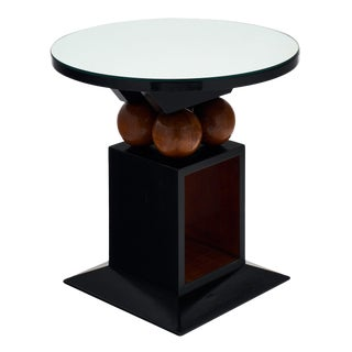 Art Deco Geometric Gueridon Table For Sale