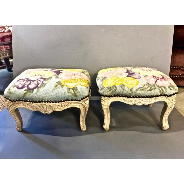 18th Century French Footstools - a Pair For Sale - Image 9 of 10