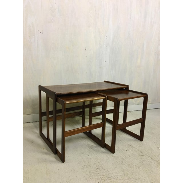 Rosewood Hovemand Olsen Rosewood Nesting Tables For Sale - Image 7 of 7