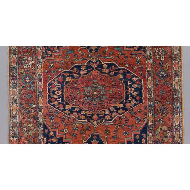 Late 19th Century Heriz Wool Rug - 4′5″ × 6′ For Sale - Image 5 of 6