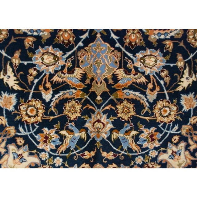 Islamic Whimsical Early 20th Century Isfahan Rug - 5′1″ × 7′7″ For Sale - Image 3 of 7