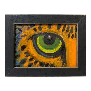 Original Oil Painting of Cheetah Eye For Sale