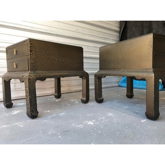 Altavista Lane Asian Inspired End Tables by Lane Furniture - a Pair For Sale - Image 4 of 9