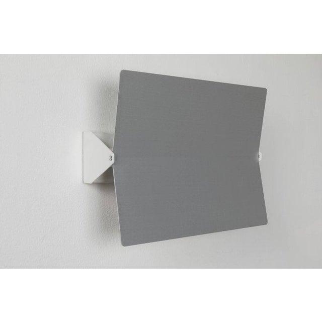 Slate Gray Large Charlotte Perriand 'Applique à Volet Pivotant Plié' Wall Light in Aluminum For Sale - Image 8 of 8