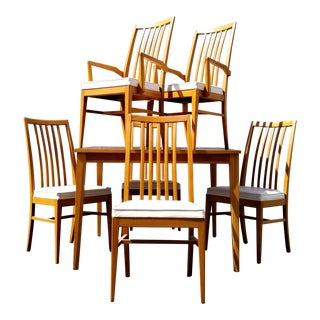 Mid Century Modern Dining Set by United Furniture - 7 Pieces For Sale