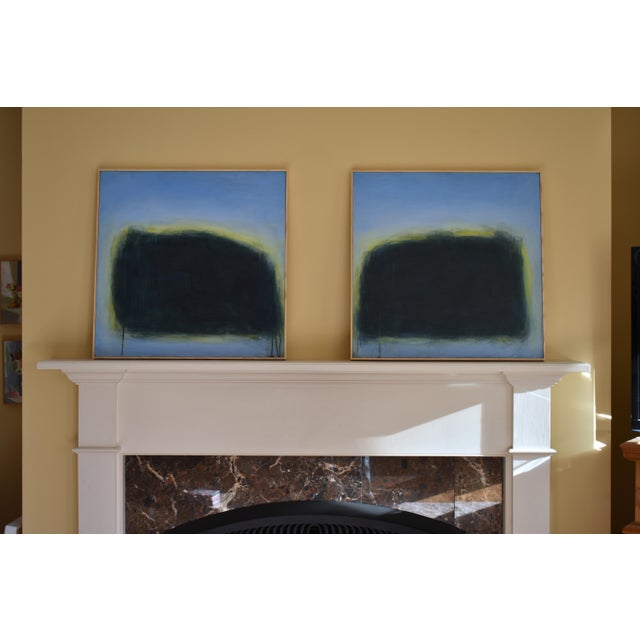 "Modern ""Touch, Summer Morning"" Abstract Diptych by Stephen Remick For Sale - Image 12 of 13"