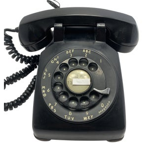 1962 Rotary Dial Black Telephone For Sale