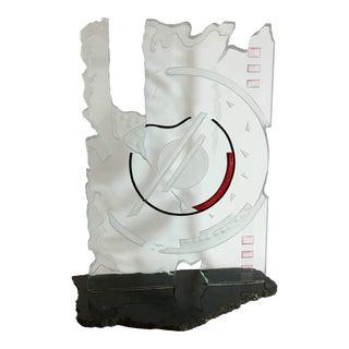 Modernist Glass & Granite Sculpture
