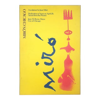 Original Miro Sculpture Exhibition Poster Chicago, 1981 For Sale
