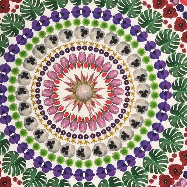 "2010s ""Flower Mandala"" Print For Sale - Image 5 of 9"