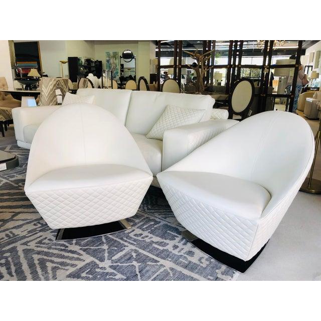 21st Century C&b Italia Gurian White Leather Italian Sofa For Sale - Image 12 of 13