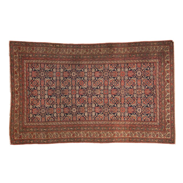 "Antique Mission Malayer Rug - 3'8"" X 5'11"" For Sale - Image 12 of 12"