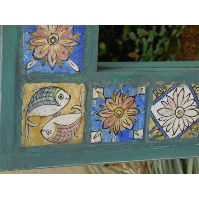 Hand Painted Persian Tile Mirror - Image 10 of 11