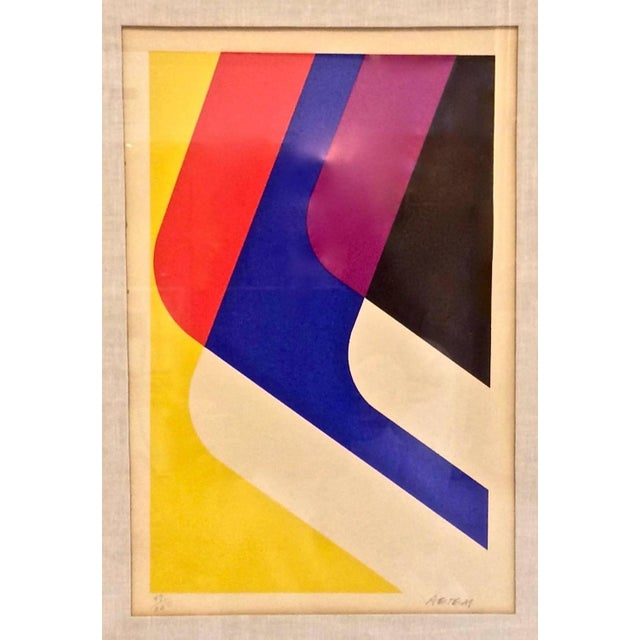 Mid-Century Limited Edition Abstract Graphic Print - Image 3 of 7