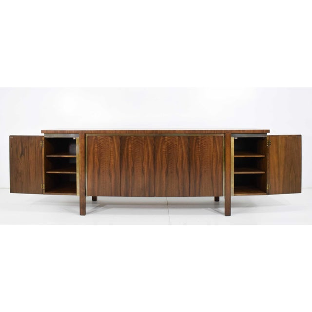 1960s Widdicomb Credenza or Sideboard in Walnut With Parquet Patterned Top For Sale - Image 10 of 13