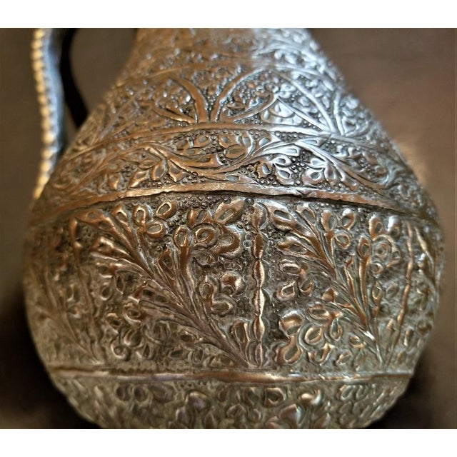 18th C. Indo-Persian Bronze Pitcher For Sale - Image 4 of 13