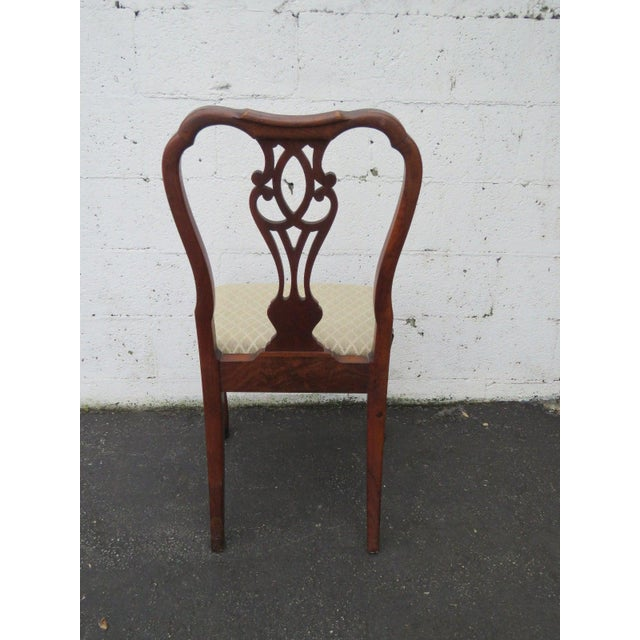 This gorgeous chair is made out of mixed wood, mahogany wood, and walnut veneer, and it is in good condition. This Chair...